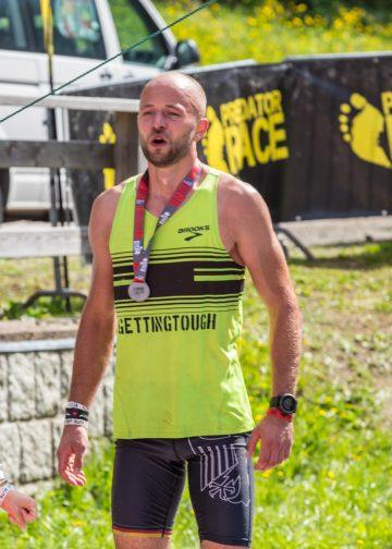 Mattes Brähmig im Ziel des Predator Race Spindl